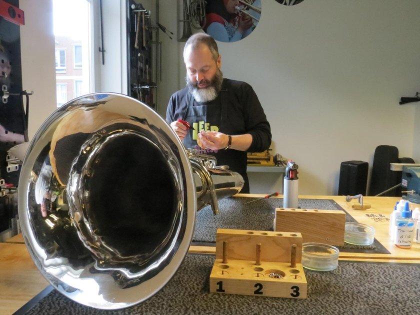 Reparatie en onderhoud haarlem koperblaasinstrumenten
